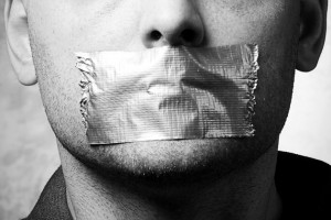 taped-mouth